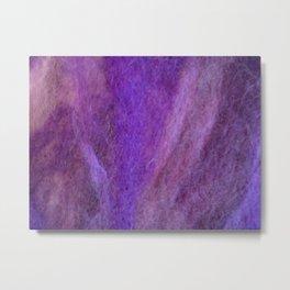 Purple wool Metal Print