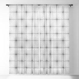 Square Tessellation Sheer Curtain