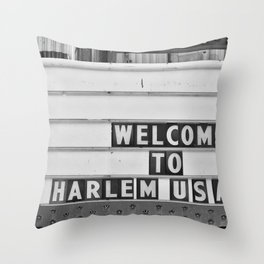 Welcome to Harlem Throw Pillow