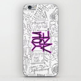 You Are - Fuchsia iPhone Skin