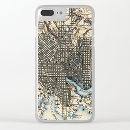 Vintage of Baltimore Maryland (1898) Clear iPhone Case