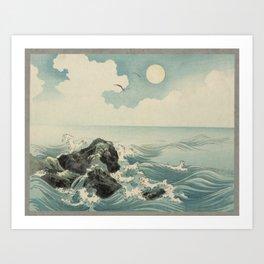 Kojima Zu - Waves Art Print