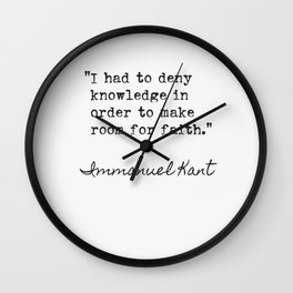 Immanuel Kant quote 5 Wall Clock