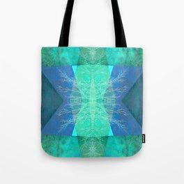 TURQUOISE BLUE PATTERN-19B Tote Bag