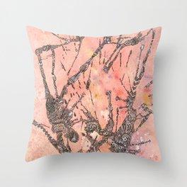 Peach Kisses Throw Pillow