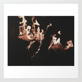 burning your letters Art Print