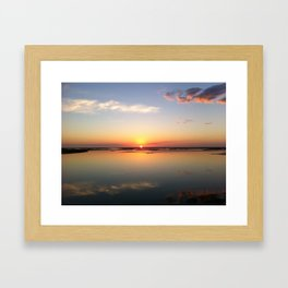 Sunrise over the Intracoastal Waterway Framed Art Print