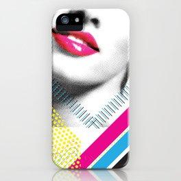 Pop Art Girl iPhone Case