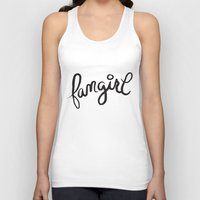 fangirl Tank Tops featuring fangirl by Fortissimo6
