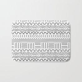 Mud Cloth on White Bath Mat