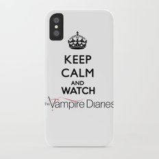Keep Calm And Watch The Vampire Diaries iPhone X Slim Case