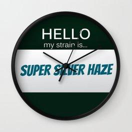 Super Silver Haze Wall Clock