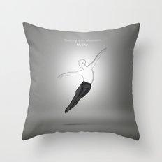 Bellet dancer Throw Pillow