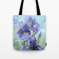 pixies Tote Bags featuring Imagine by milyKnight