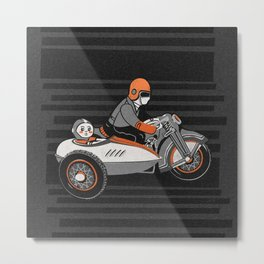 """Wind it Up"" Toy Motorcycle Metal Print"