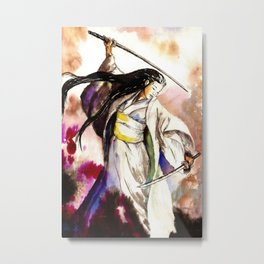 Tomoe Gozen watercolor Metal Print