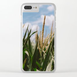 Summer Fields Clear iPhone Case