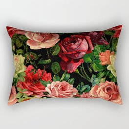 Vintage & Shabby chic - floral roses flowers rose Rectangular Pillow