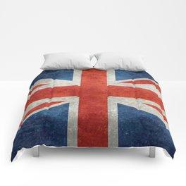 UK flag, High Quality bright retro style Comforters