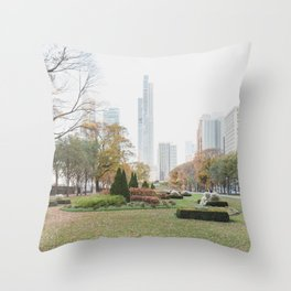 South Loop Autumn - Chicago Photography Throw Pillow