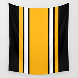 Pittsburgh Black And Yellow Abstract Wall Tapestry