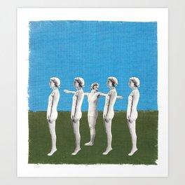 queue Art Print