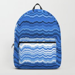 Blue waves pattern Backpack