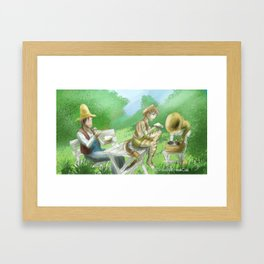 An Old Man and his Cat Framed Art Print