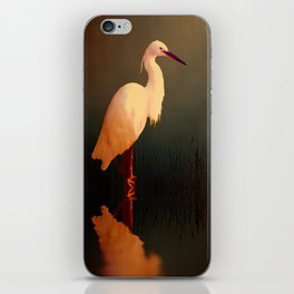 Midnight Egret iPhone Skin