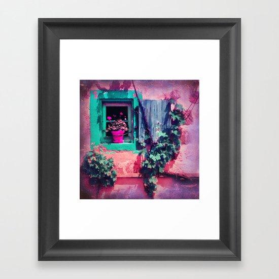THE OLD FLOWER POT Framed Art Print