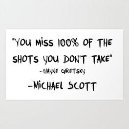 Michael Wayne Gretzky Quote Art Print