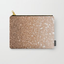 Copper Shiny Powder Texure Carry-All Pouch