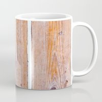 wooden Mugs featuring Wooden Boards by Patterns and Textures