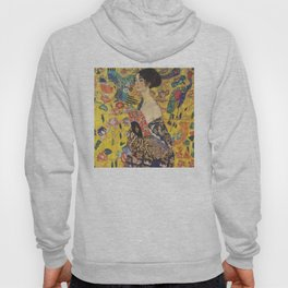 Gustav Klimt Lady With Fan  Art Nouveau Painting Hoody