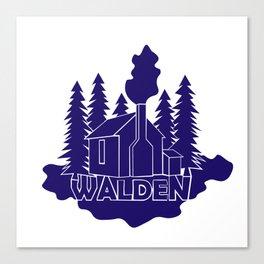 Walden - Henry David Thoreau (Blue version) Canvas Print