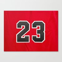 chicago bulls Canvas Prints featuring Michael 23 Jordan Chicago Bulls by Rorzzer