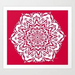 Red Bucket of Flakes Art Print