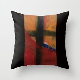 held in process Throw Pillow