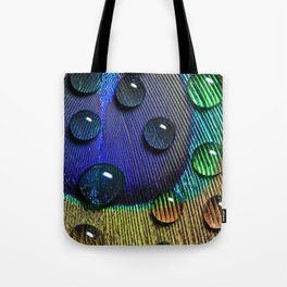 Peacock Drops Tote Bag