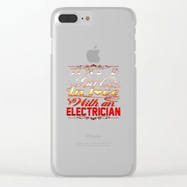 In love with Electrician Clear iPhone Case