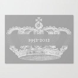 Jubilee Crown {soft grey} Canvas Print