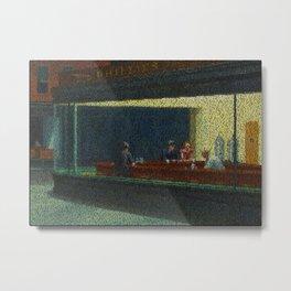 Tom's Diner (Edward Hopper/Suzanne Vega mash up) Metal Print