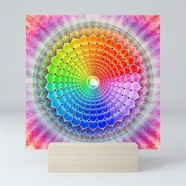 Crown Chakra Rainbow Lotus Mini Art Print