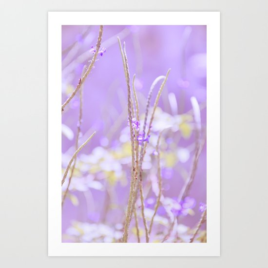 Gladness breathes from the blossoming ground. Art Print