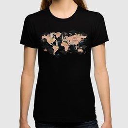 World Map Cartoon Style T-shirt