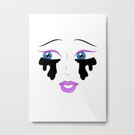 Eyes with no face Metal Print
