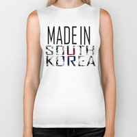 korea Biker Tanks featuring Made In South Korea by VirgoSpice