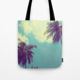 Double Palm Tree Tote Bag