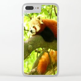 Chilling Red Panda Clear iPhone Case