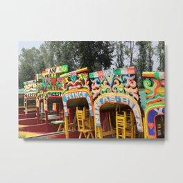 Xochimilco: Trajinera Ride Metal Print